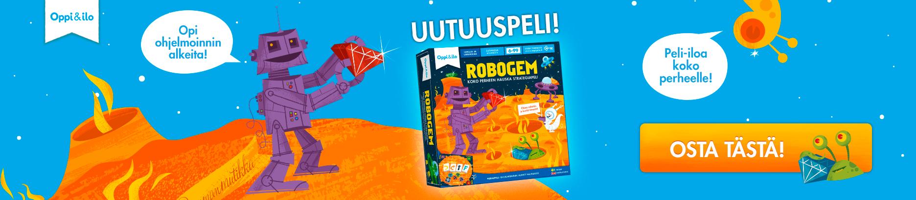 Tutustu ja osta Robogem-ohjelmointilautapeli!