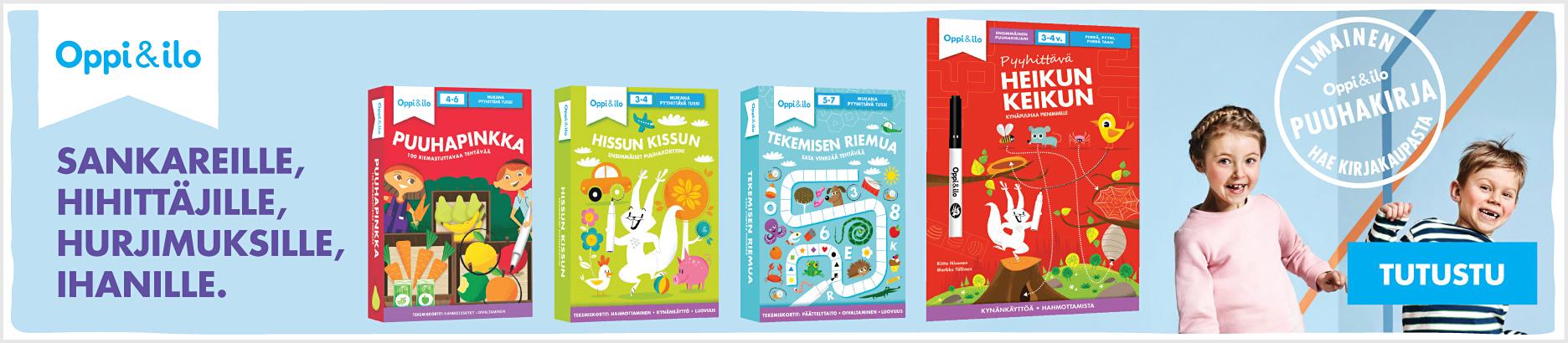 Hae kirjakaupasta ilmainen Oppi&ilo-näytepuuhakirja!