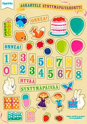 syntymäpäiväkorttitarrat
