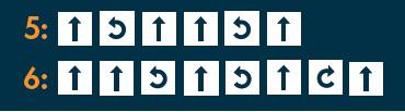 Koodauspläjäys-korttien 5 ja 6 oikeat ratkaisut