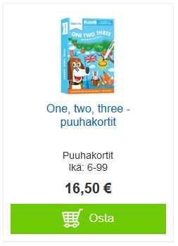 One, two, three -puuhakortit