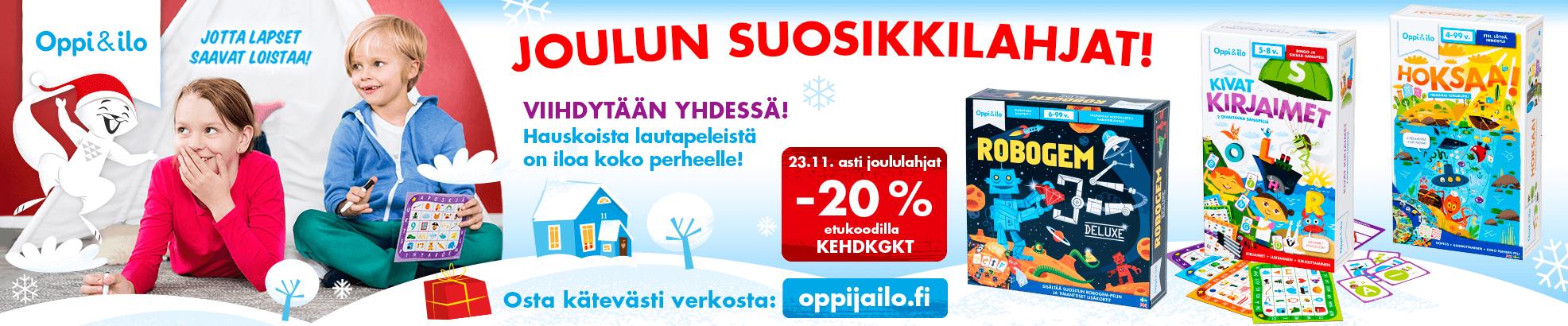 Joulun parhaat lahjat -20%!